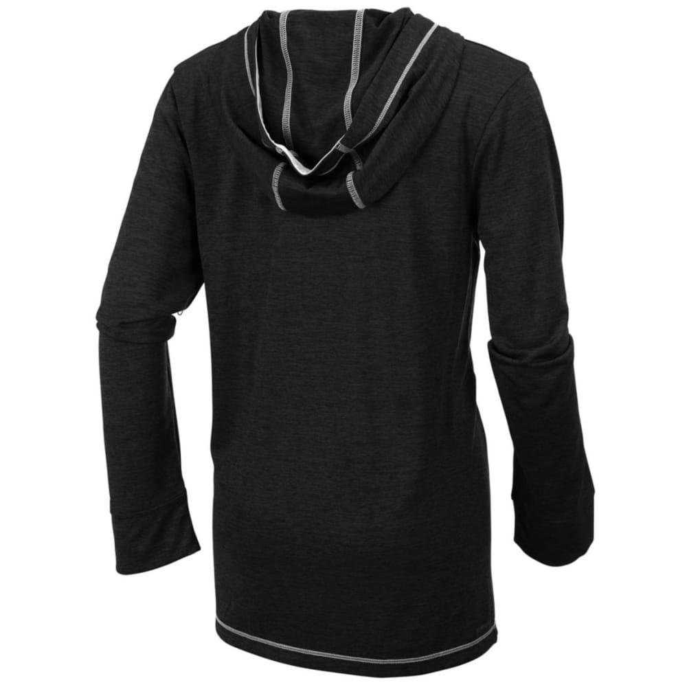 ADIDAS Boys' Coast to Coast Pullover Sweatshirt - BLACK HTR-K01H