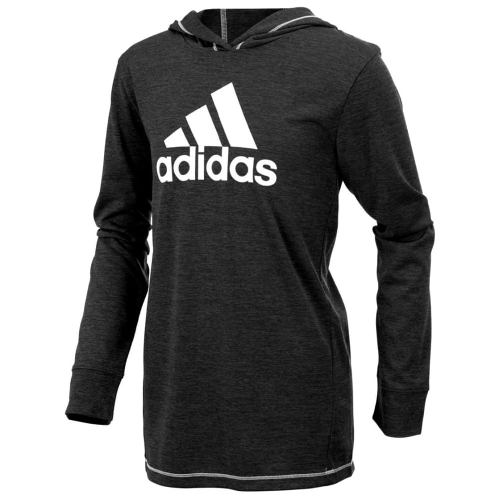 ADIDAS Boys' Coast to Coast Pullover Sweatshirt - BLACK HTR-K01H