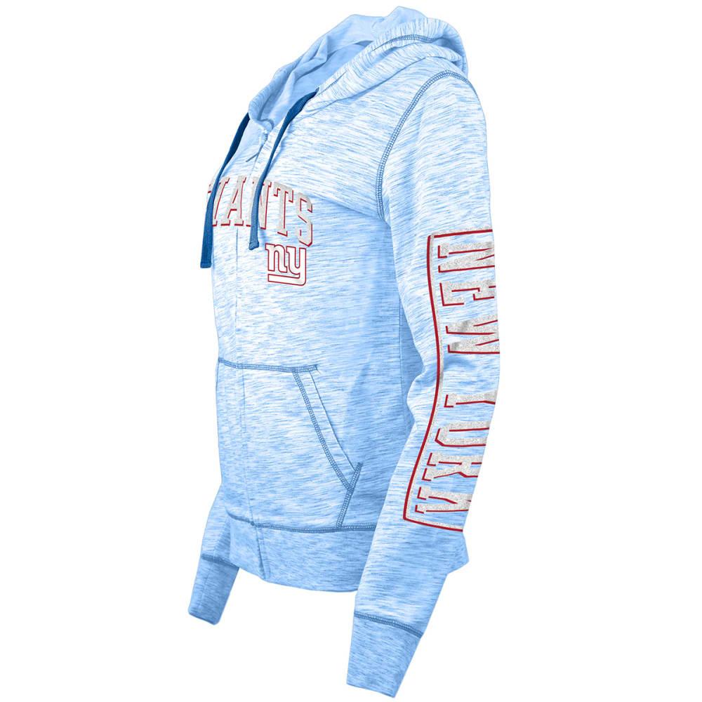 NEW YORK GIANTS Women's Space-Dye Full-Zip Fleece Hoodie - ROYAL BLUE
