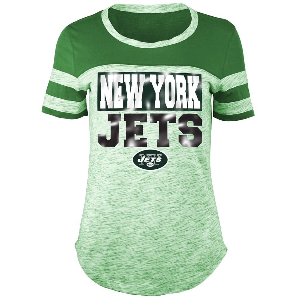 NEW YORK JETS Women's Space-Dye Scoop-Neck Short-Sleeve Tee - GREEN