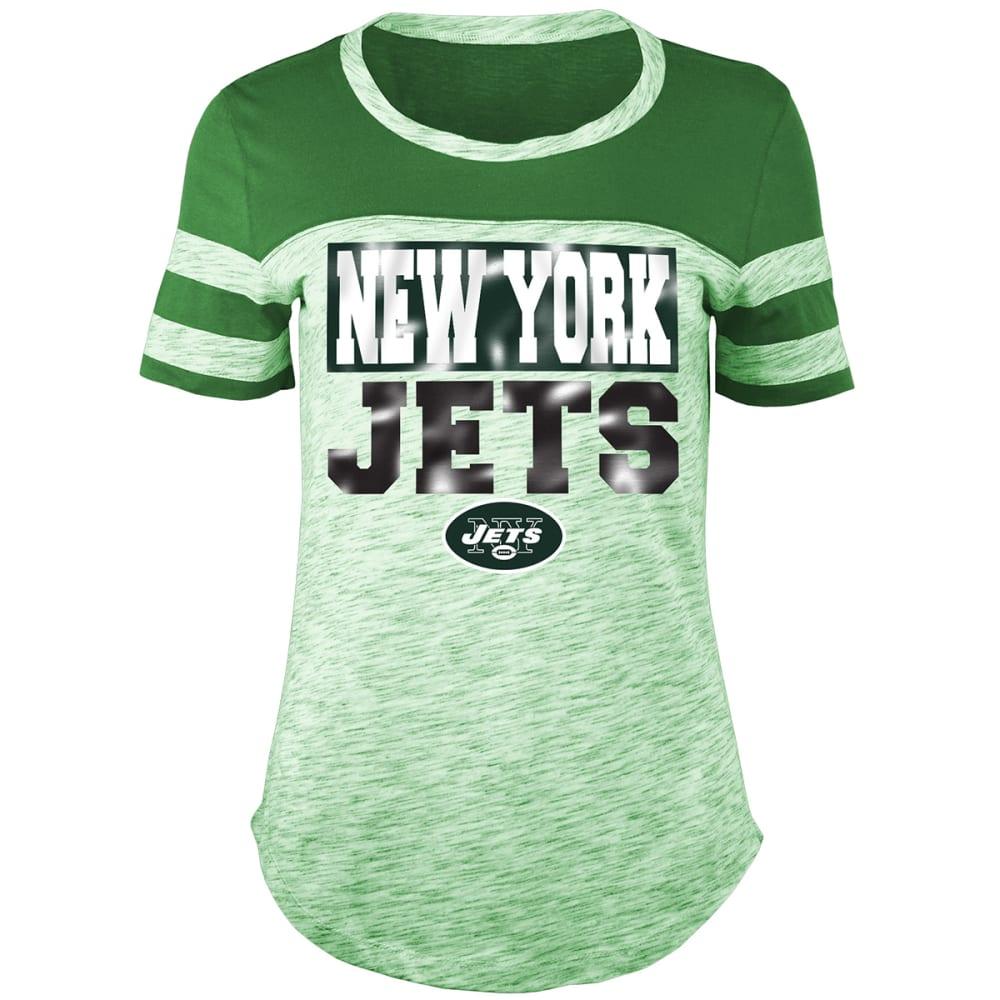 NEW YORK JETS Women's Space-Dye Scoop-Neck Short-Sleeve Tee S