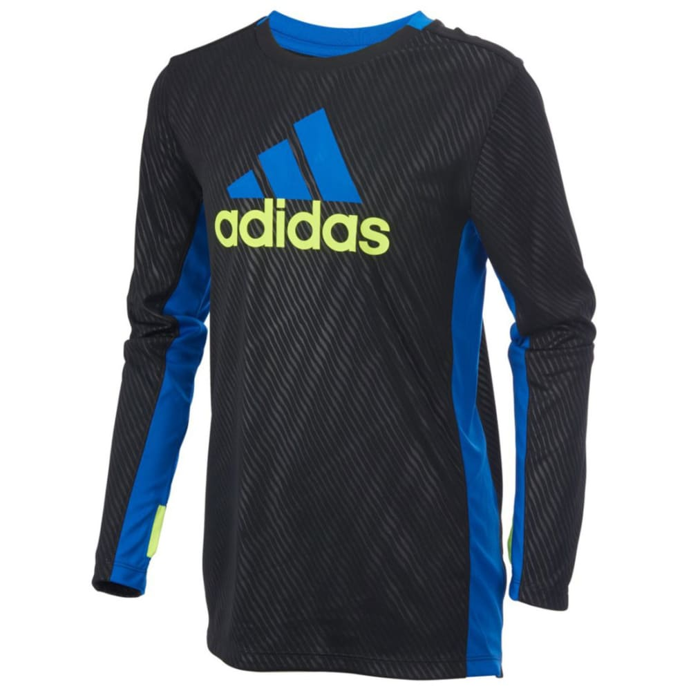 ADIDAS Boys' Helix Vibe Training Long-Sleeve Tee - BLACK-K01