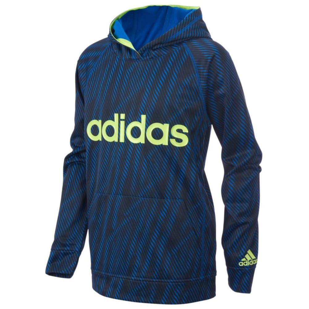 Adidas Big Boys Helix Vibe Fleece Pullover Sweatshirt - Blue, S