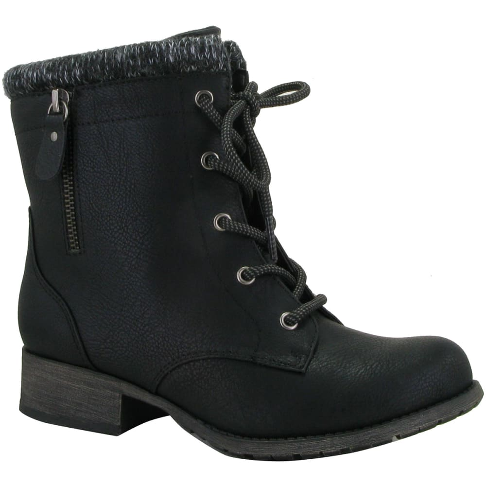 POP BY JELLYPOP Women's Hemet Lace-Up Combat Boots - BLACK