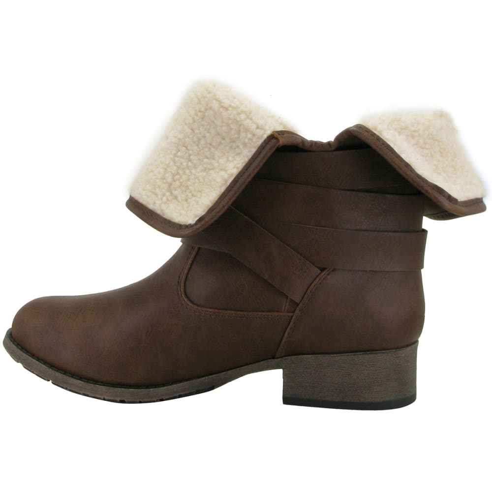 POP BY JELLYPOP Women's Hugo Ankle Boots - DARK BROWN