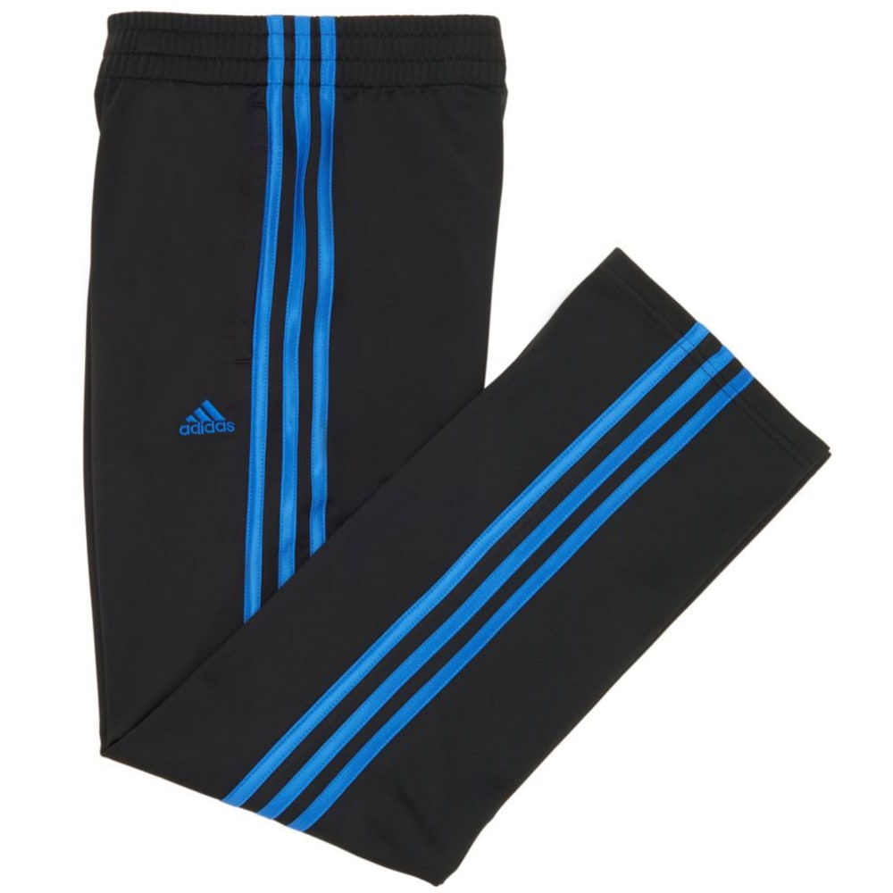 ADIDAS Boys' Impact Tricot Pants - BLACK W/ BLUE-K10