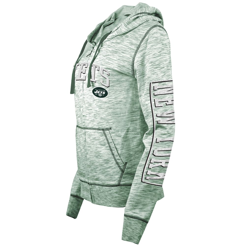 NEW YORK JETS Women's Space-Dye Full-Zip Fleece Hoodie - GREEN