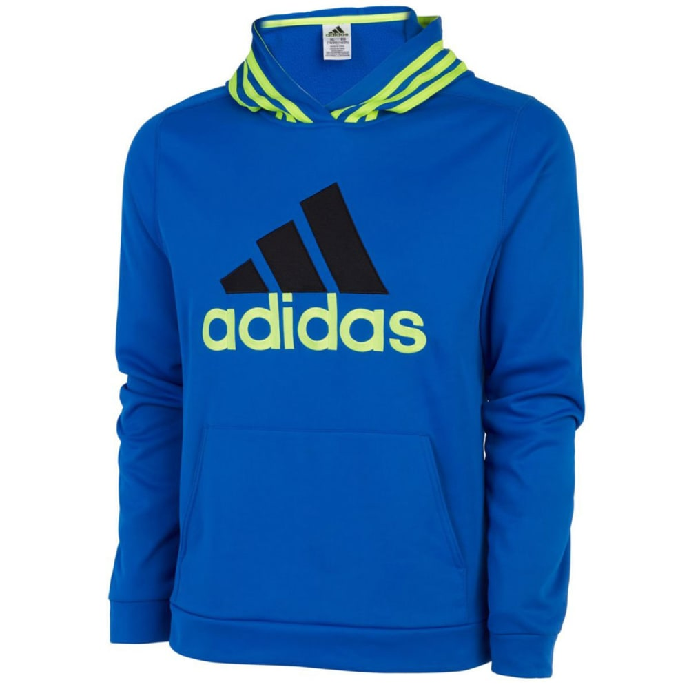Adidas Big Boys Classic Fleece Pullover Hoodie - Blue, S