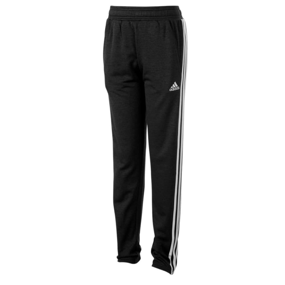 ADIDAS Boys' Iconic Indicator Melange Fleece Pants - BLACK HTR-AK01H