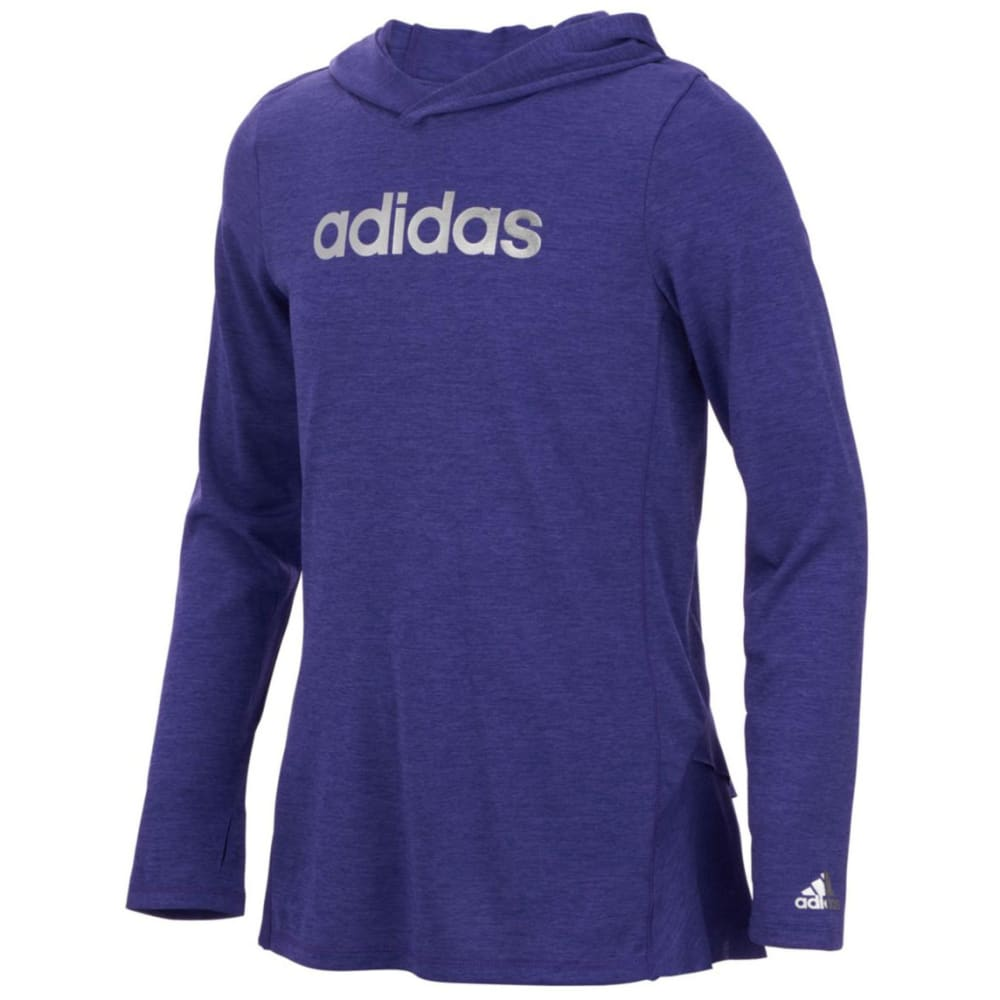 Adidas Girls Hustle Your Bustle Pullover Hoodie - Purple, S