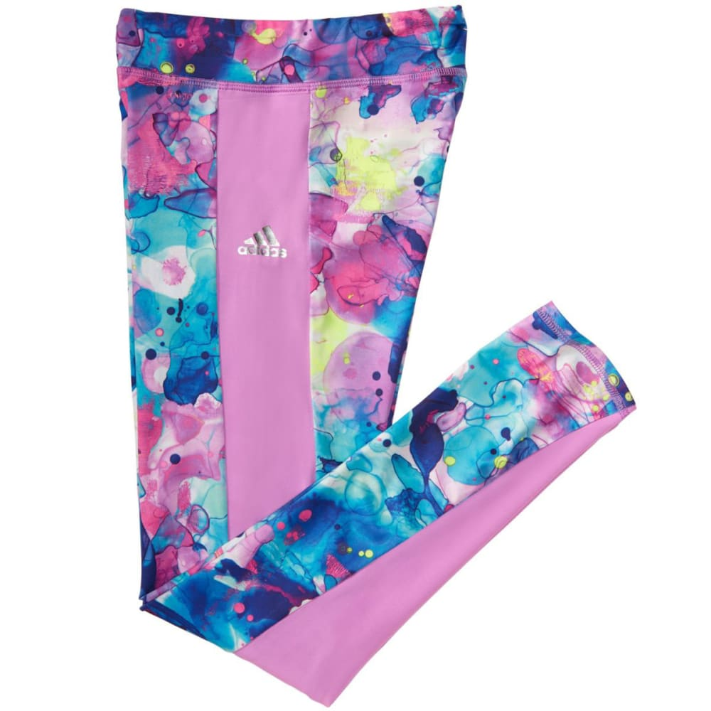 ADIDAS Girls' Go With The Flow Leggings - JODOINKCAMOPRNT-P283