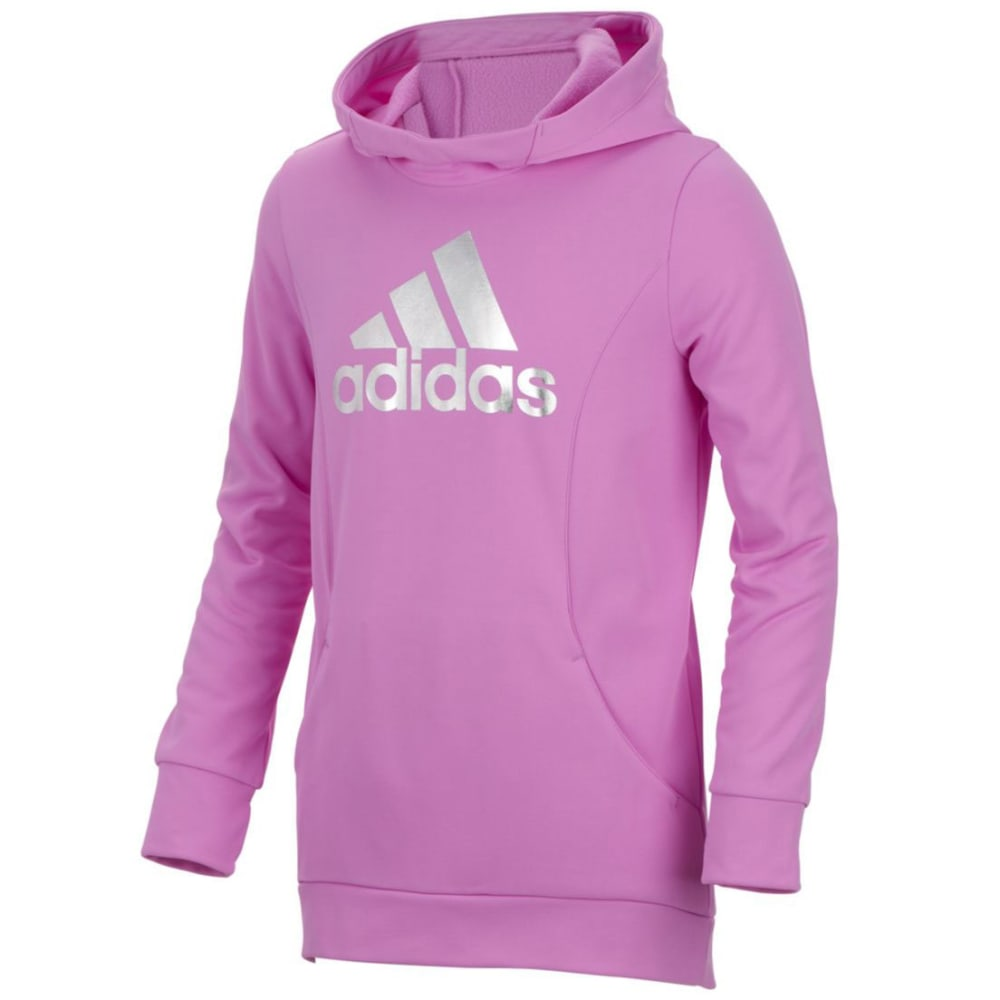 Adidas Girls Performance Hooded Sweatshirt - Purple, M