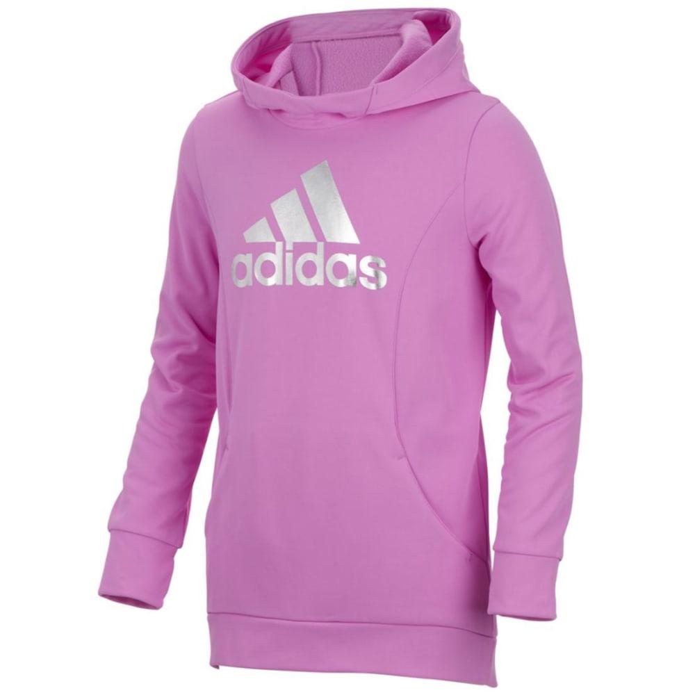 ADIDAS Girls' Performance Hooded Sweatshirt - LIGHT PURPLE-AL161
