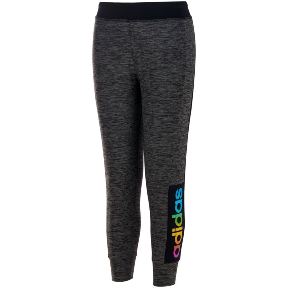 Adidas Girls Space-Dyed Melange Jogger Pants - Black, S