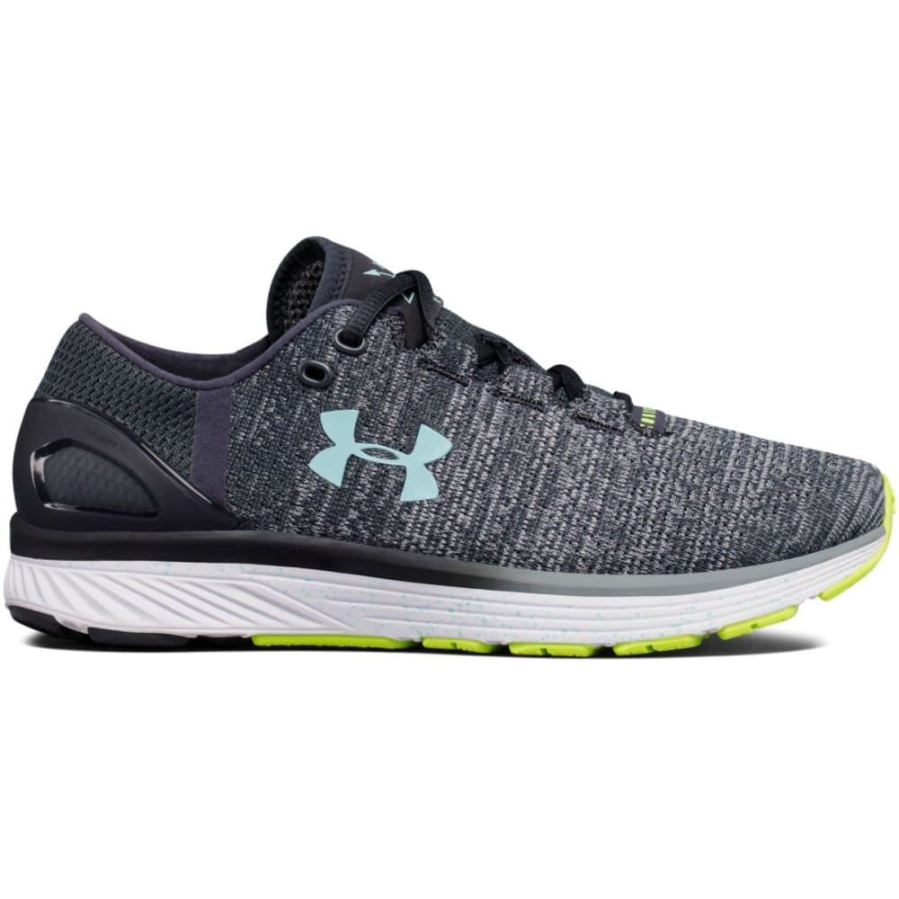 UNDER ARMOUR Women's UA Charged Bandit 3 XCB Running Shoes, Steel/Stealth/Blue - GREY