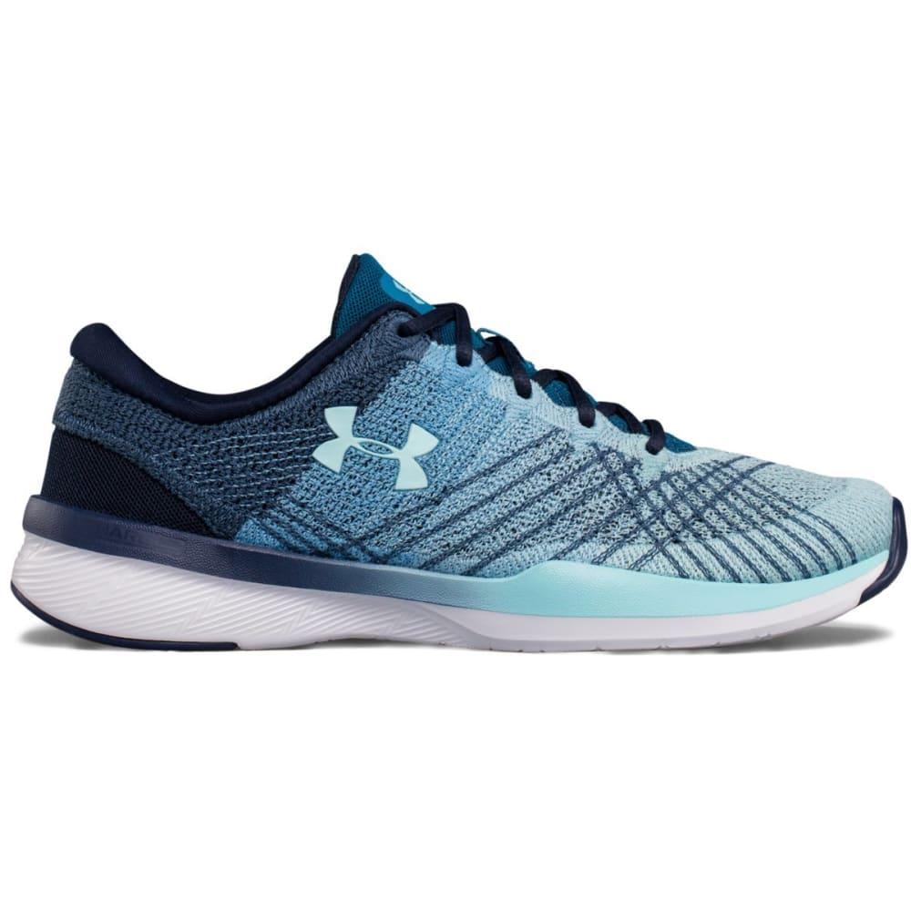 UNDER ARMOUR Women's UA Threadborne Push Cross-Training Shoes, Midnight Navy/Bayou Blue/Blue Infinity - MDNGHT NAVY