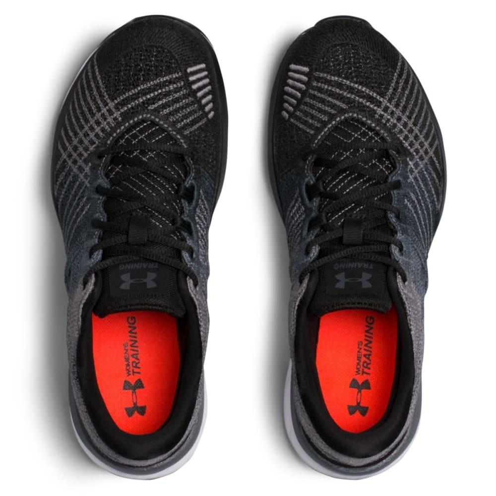 UNDER ARMOUR Women's Threadborne Push Cross Training Shoes, Black/Steel - BLACK