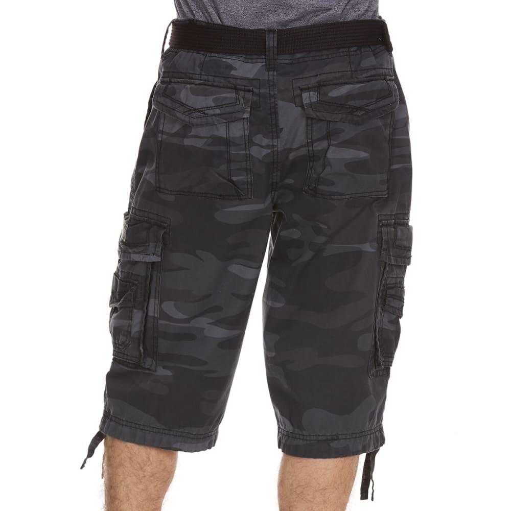 UNIONBAY Guys' Cordova Camo Cargo Messenger Shorts - BLACK CAMO-065Y