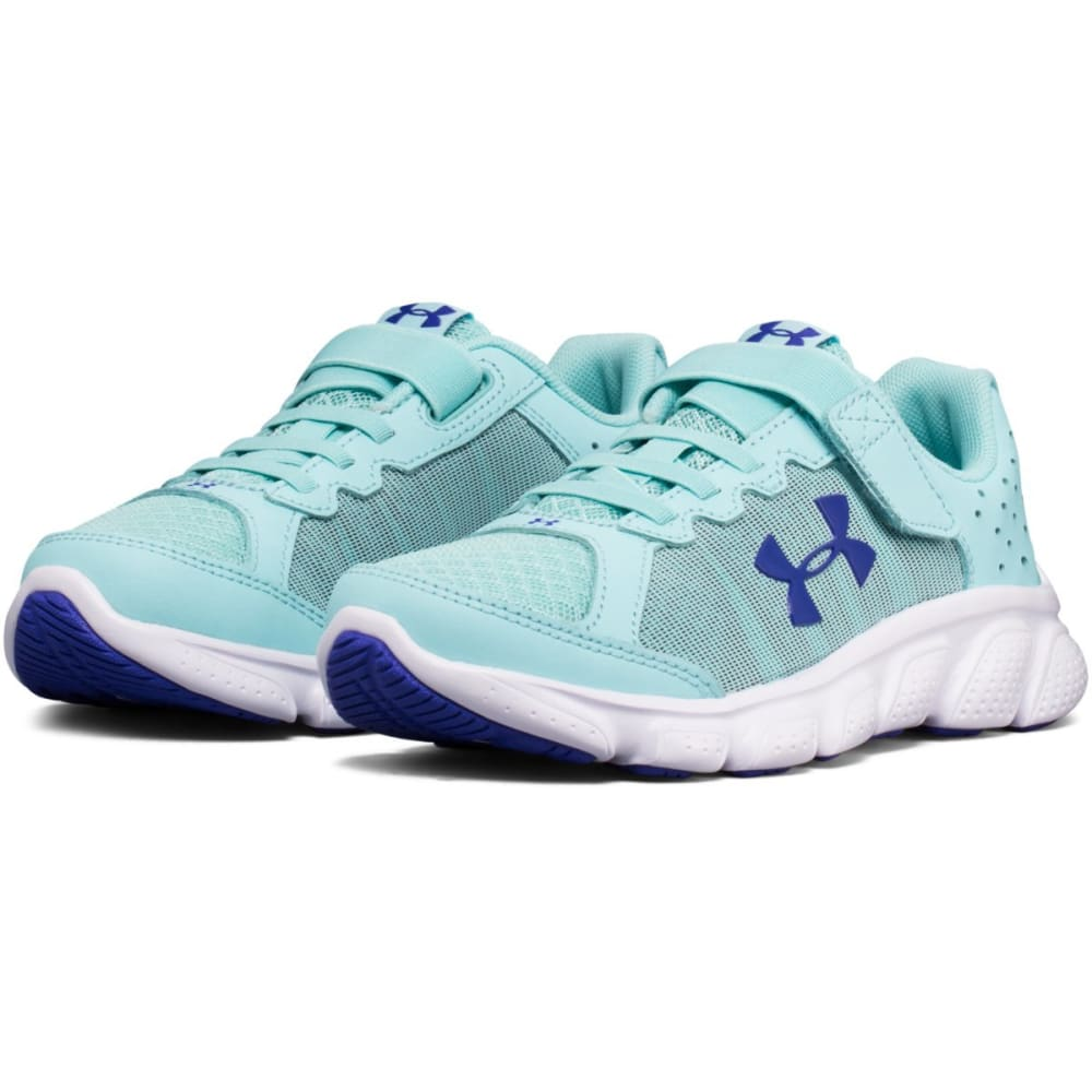 UNDER ARMOUR Girls' Pre-School Micro G Assert 6 AC Running Shoes, Blue Infinity/White/Constellation Purple - BLUE INFINITY