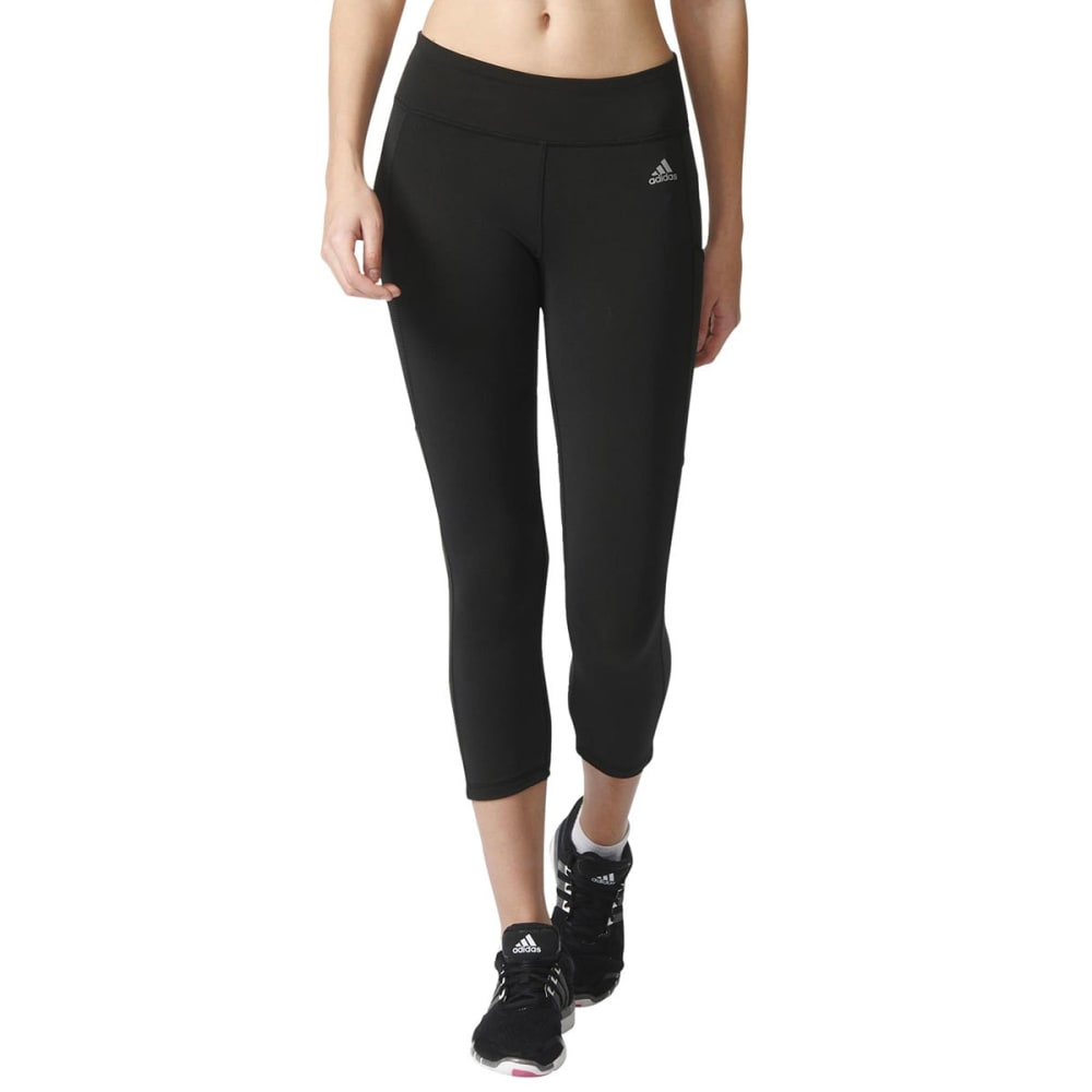 Adidas Women's Clima Studio Mid-Rise  3/4 Tights - Black, S