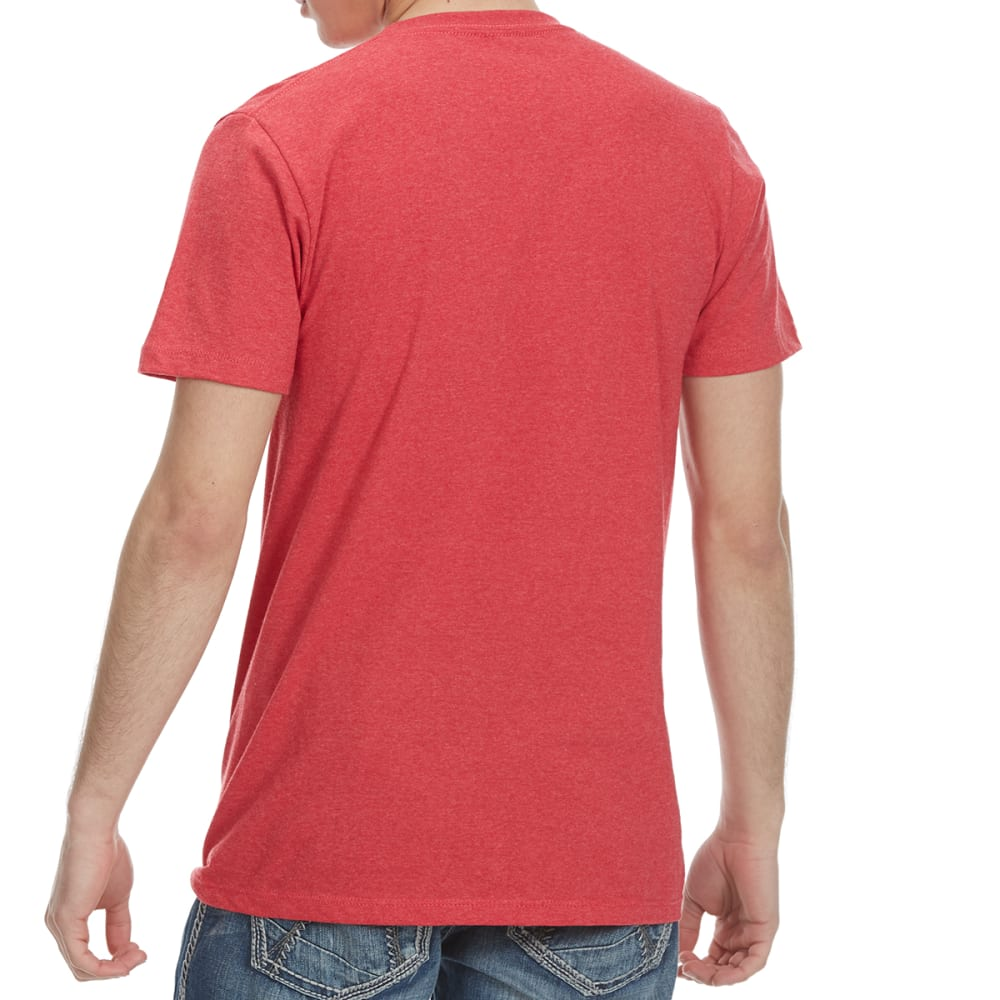 OCEAN CURRENT Guys' Blended Tee - RED HEATHER