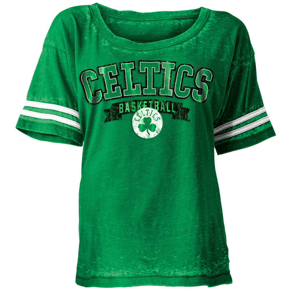 Boston Celtics Women's Burnout Short-Sleeve Tee - Green, M
