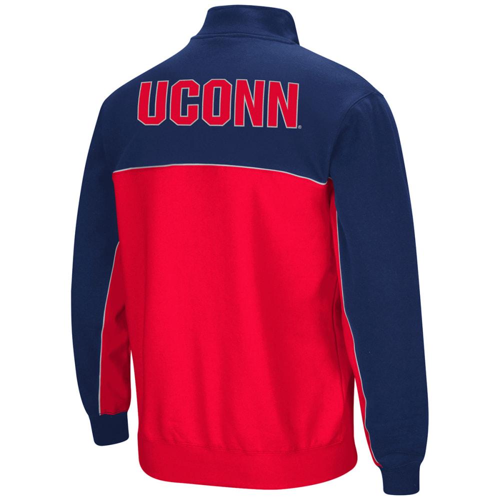 UCONN Men's Thriller III 1/4 Zip Fleece Pullover - NAVY/RED