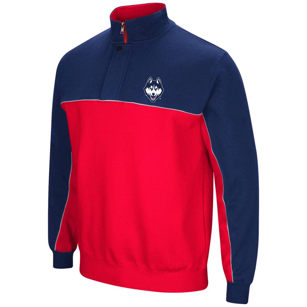 UCONN Men's Thriller III ¼-Zip Fleece Pullover - NAVY/RED