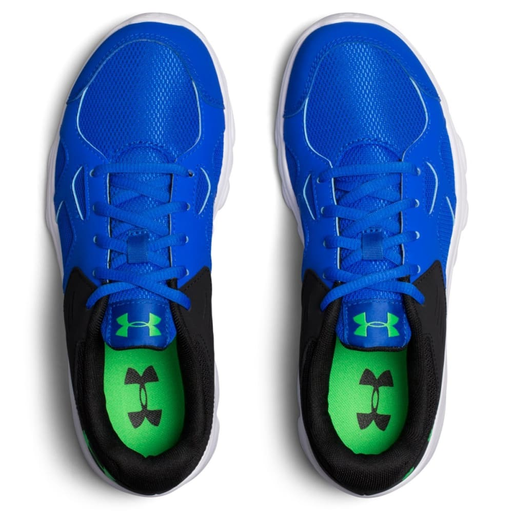 UNDER ARMOUR Boys' Grade School Pace RN Running Shoes, Blue/White/Lime Twist - BLUE