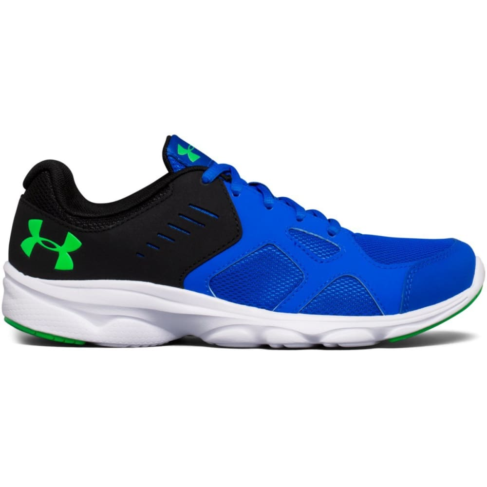 UNDER ARMOUR Boys' Grade School Pace RN Running Shoes, Blue/White/Lime Twist 3.5