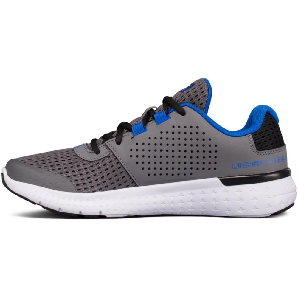 UNDER ARMOUR Boys' Grade School UA Micro G® Fuel Running Shoes, Graphite/Black/Ultra Blue - GRAPHITE