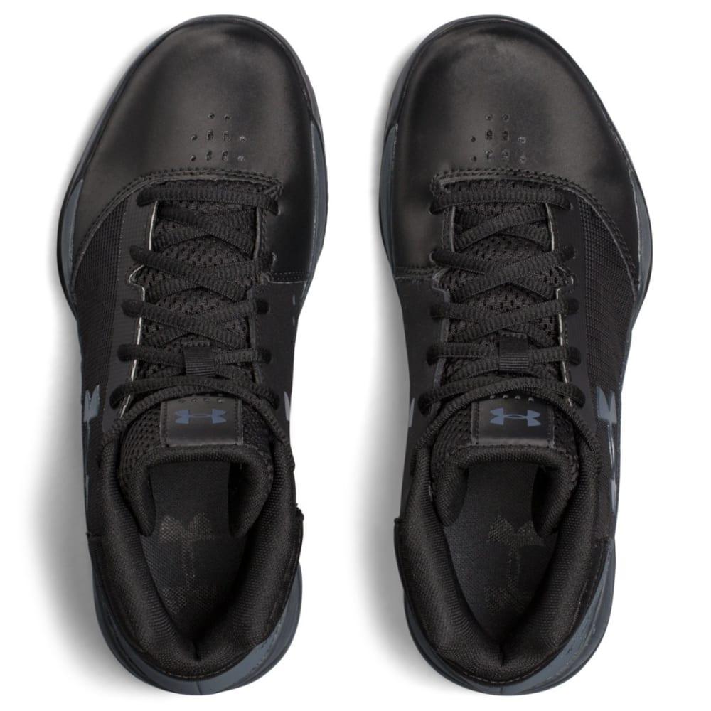 UNDER ARMOUR Boys' Grade School UA Jet 2017 Basketball Shoes, Black/Rhino Grey - BLACK/RHINO - 001