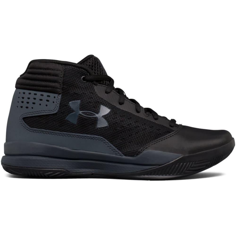 UNDER ARMOUR Boys' Grade School UA Jet 2017 Basketball Shoes, Black/Rhino Grey - BLACK