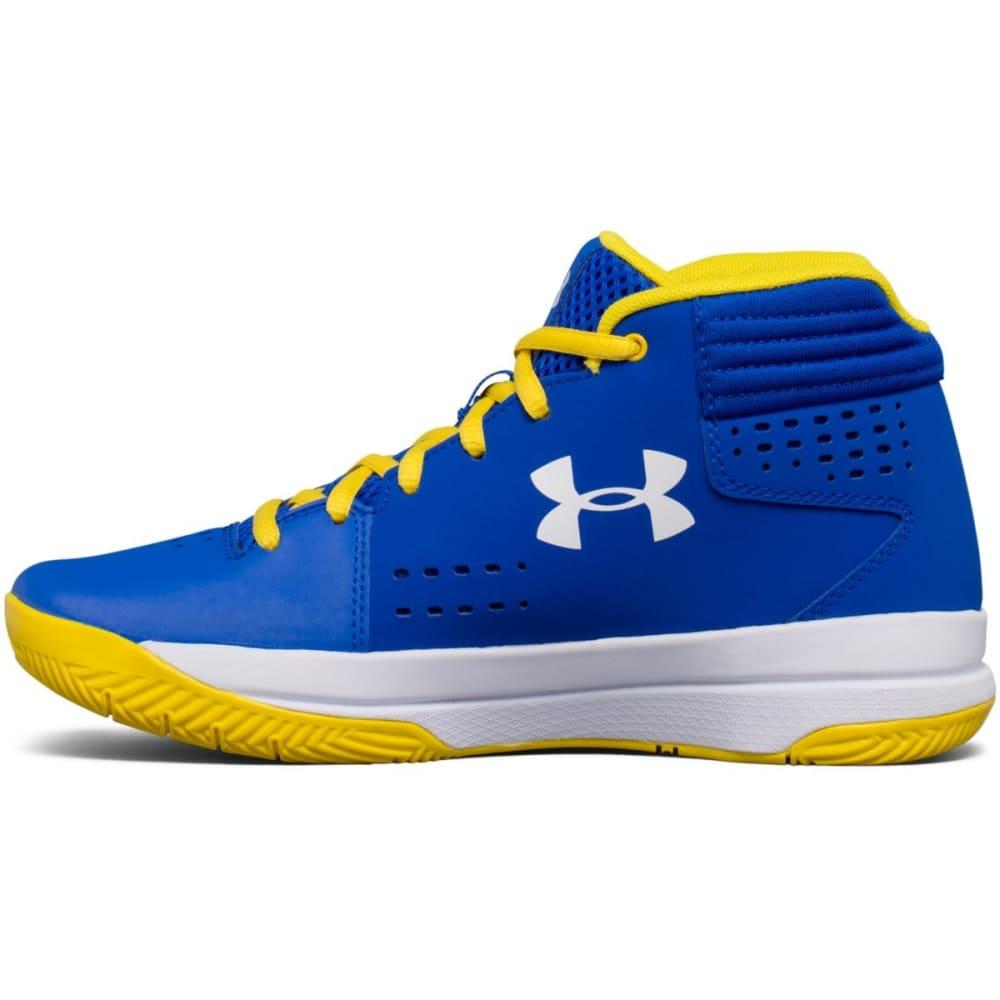 UNDER ARMOUR Boys' Grade School UA Jet 2017 Basketball Shoes, Royal/White - ROYAL BLUE