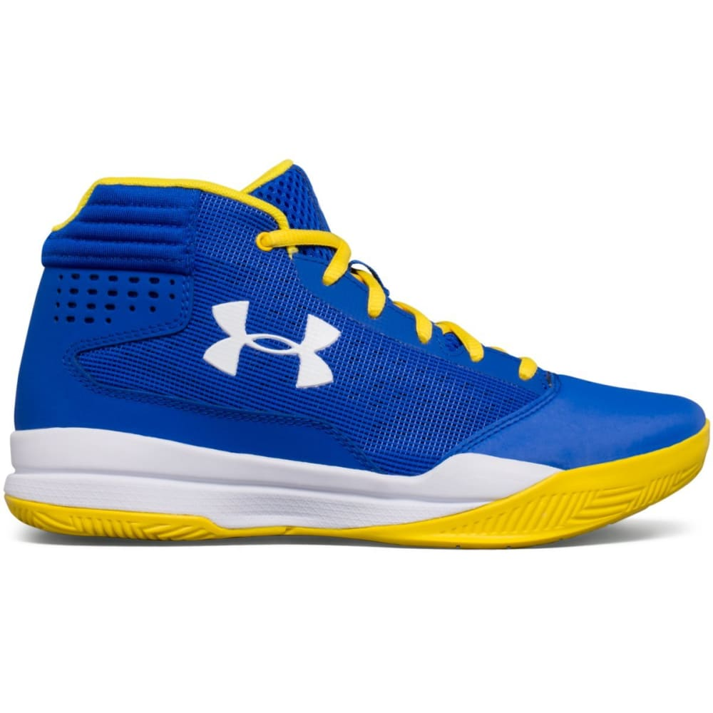 UNDER ARMOUR Boys' Grade School UA Jet 2017 Basketball Shoes, Royal/White - ROYAL BLUE