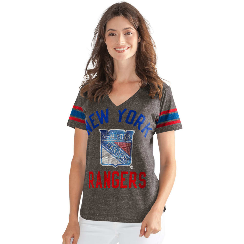 NEW YORK RANGERS Women's In The Finals Short-Sleeve Tee - GREY