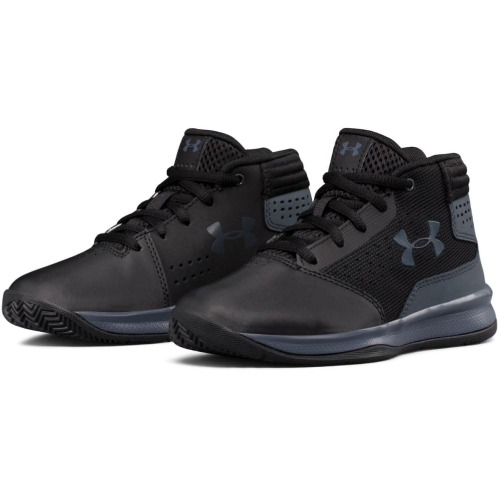 UNDER ARMOUR Boys' Pre-School UA Jet 2017 Basketball Shoes, Black/Rhino Grey - BLACK/RHINO - 001
