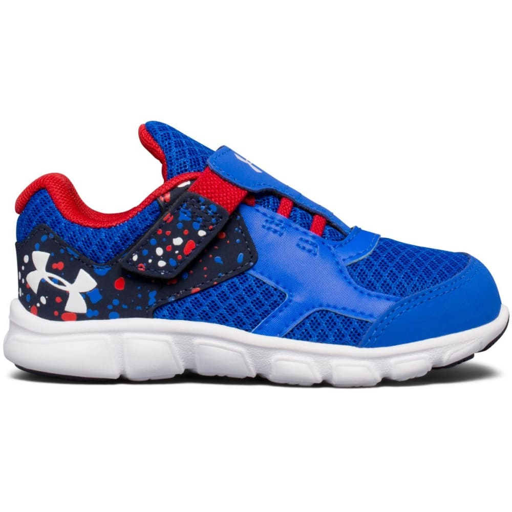 UNDER ARMOUR Boys' Toddler Thrill RN Sneakers, Ultra Blue/Red/White 5