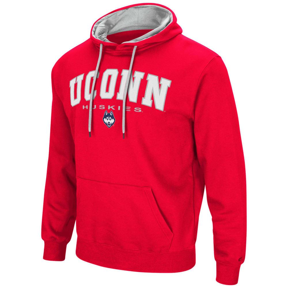 UCONN Men's Zone III Fleece Pullover Hoodie - RED