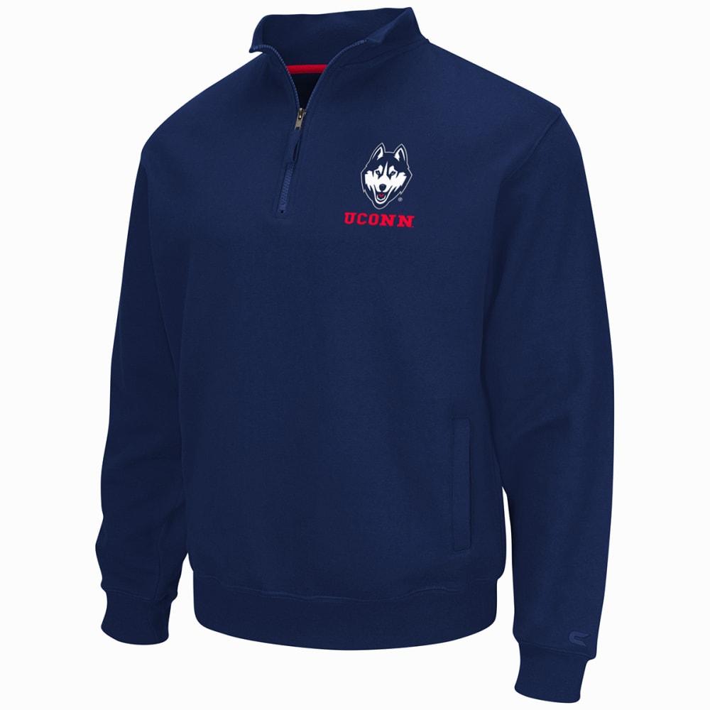 UCONN Men's Zone Quarter Zip Fleece Pullover - NAVY