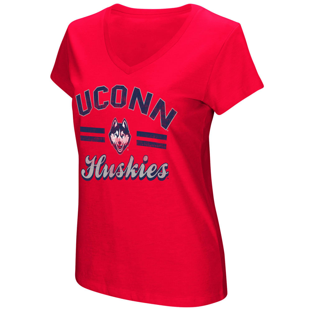 Uconn Women's Hurdle Short-Sleeve Tee - Red, S