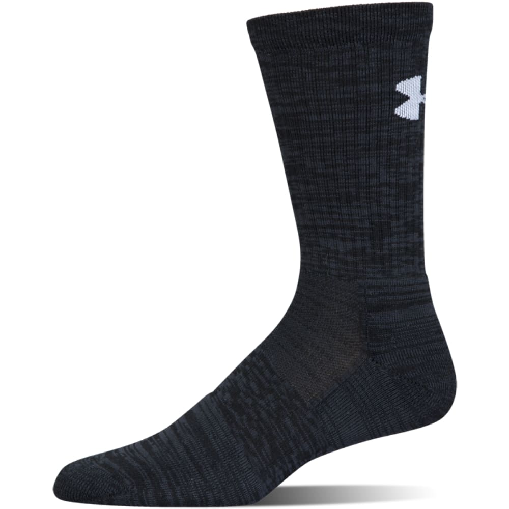 UNDER ARMOUR Men's UA Phenom Twisted Crew Socks, 3 Pack - BLACK ASST-960
