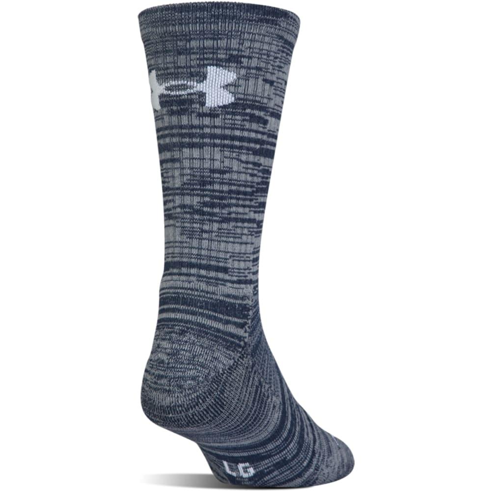 UNDER ARMOUR Men's UA Phenom Twisted Crew Socks, 3 Pack - BLUE MARKER ASS-961