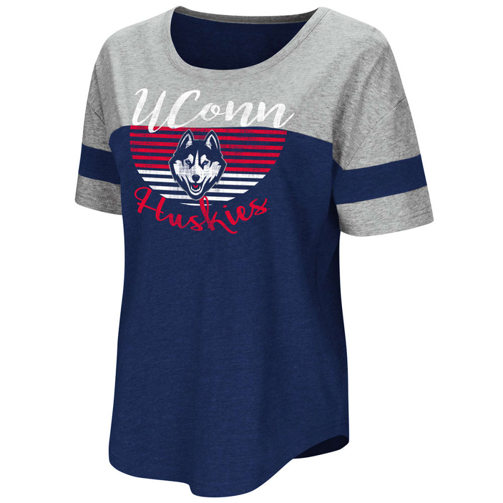 UCONN Women's Goofy Foot Color-Blocked Short-Sleeve Tee - NAVY