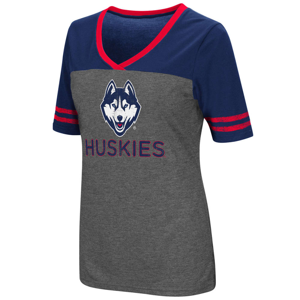 UCONN Women's McTwist Jersey Short-Sleeve Tee - HEATHER CHARCOAL