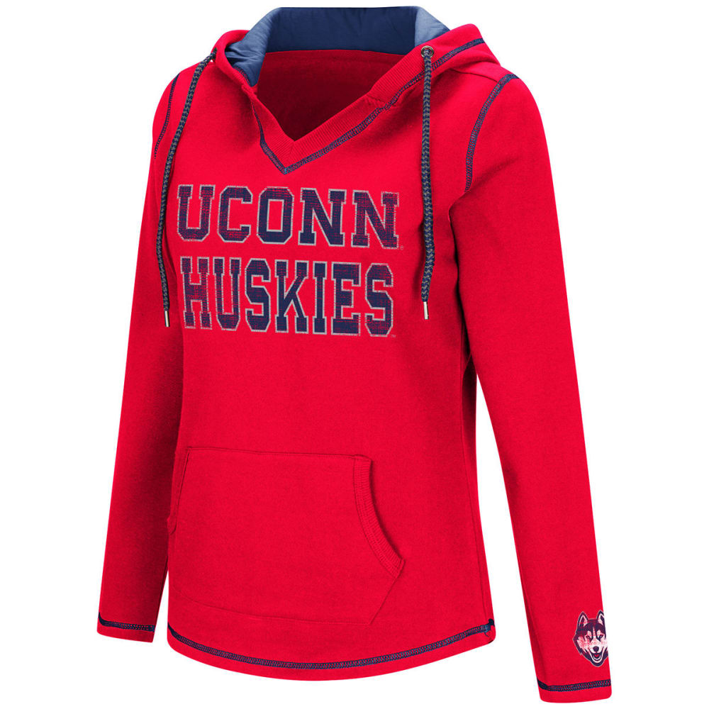 Uconn Women's Spike Fleece Pullover Hoodie - Blue, S