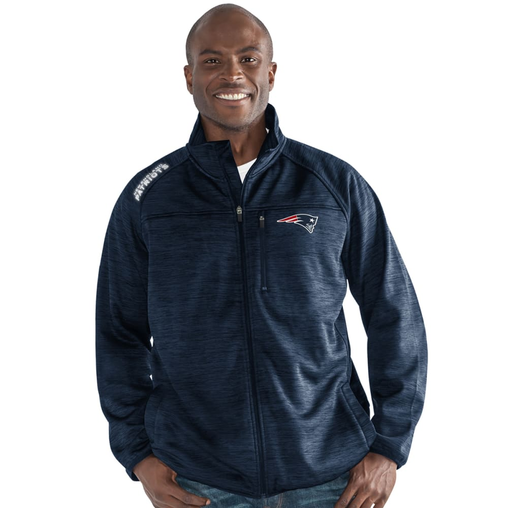 NEW ENGLAND PATRIOTS Men's Mindset Space-Dye Microfleece Full-Zip Jacket - NAVY