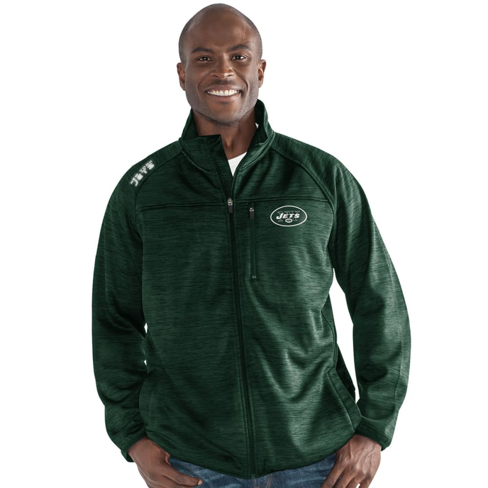 NEW YORK JETS Men's Mindset Space-Dye Microfleece Full-Zip Jacket - GREEN