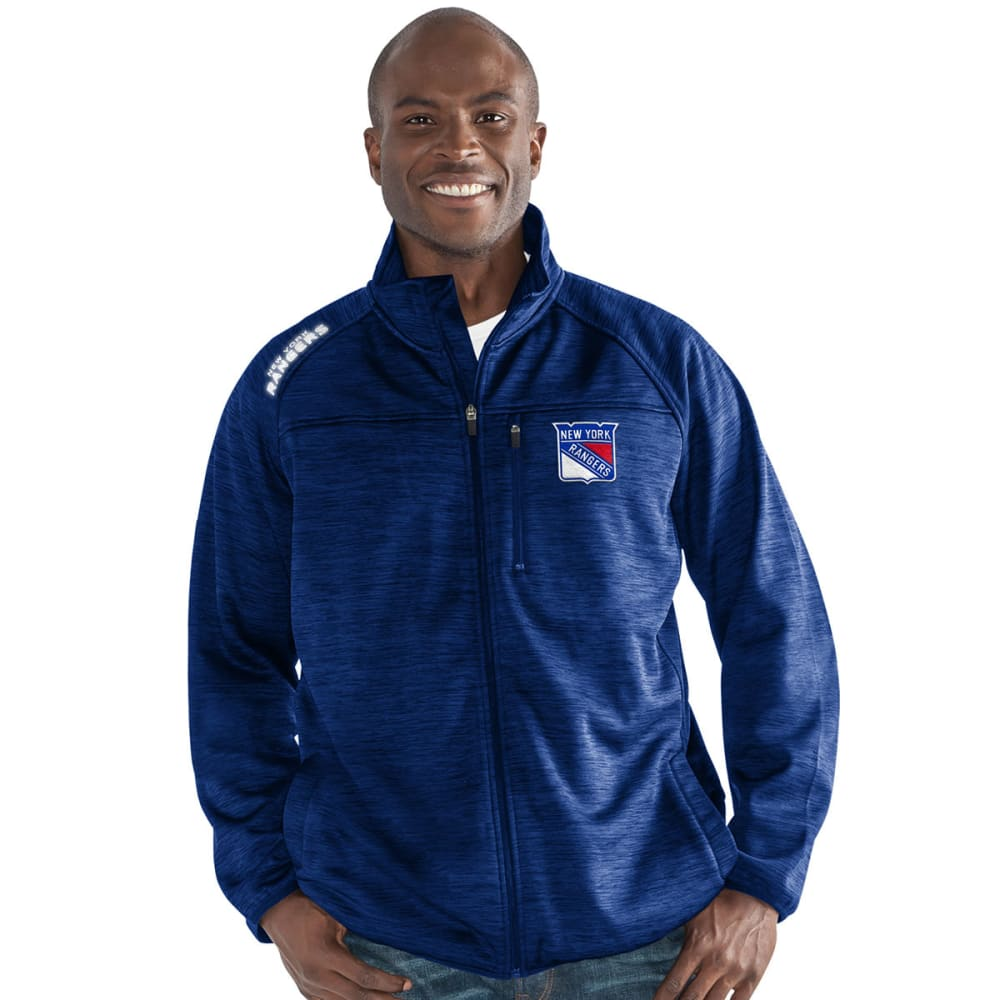 NEW YORK RANGERS Men's Mindset Space-Dye Microfleece Full-Zip Jacket - DARK BLUE