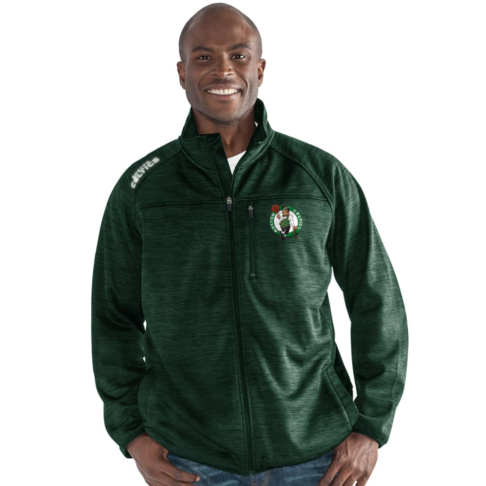 BOSTON CELTICS Men's Mindset Space-Dye Microfleece Full-Zip Jacket - GREEN